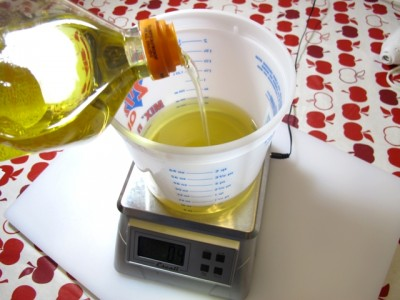 add liquid oils
