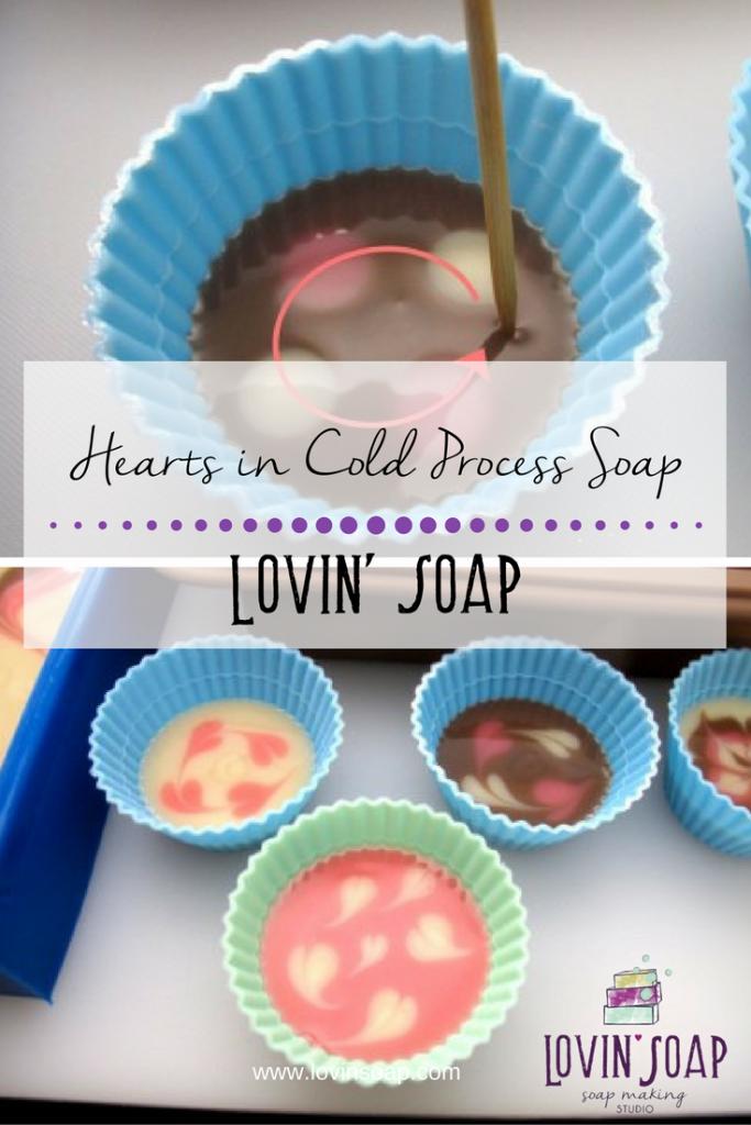 Hearts in Cold Process Soap