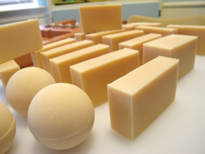 fresh goat milk soap
