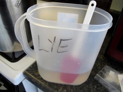 Lye solution