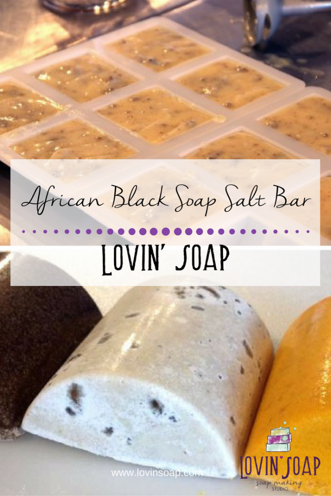 African Black Soap Salt Bar