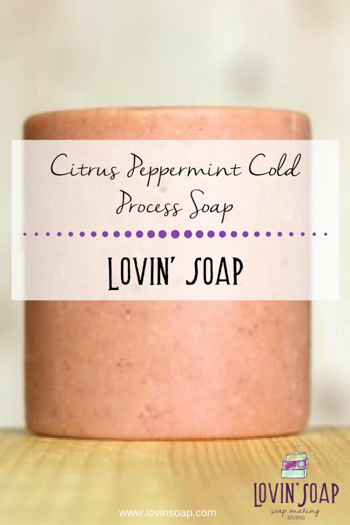 Citrus Peppermint Cold Process Soap