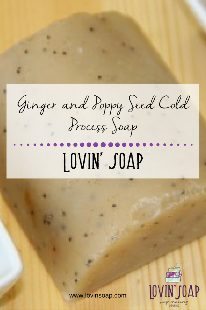 Ginger and Poppy Seed Cold Process Soap