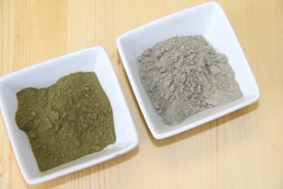 stevia leaf powder and sea clay soap