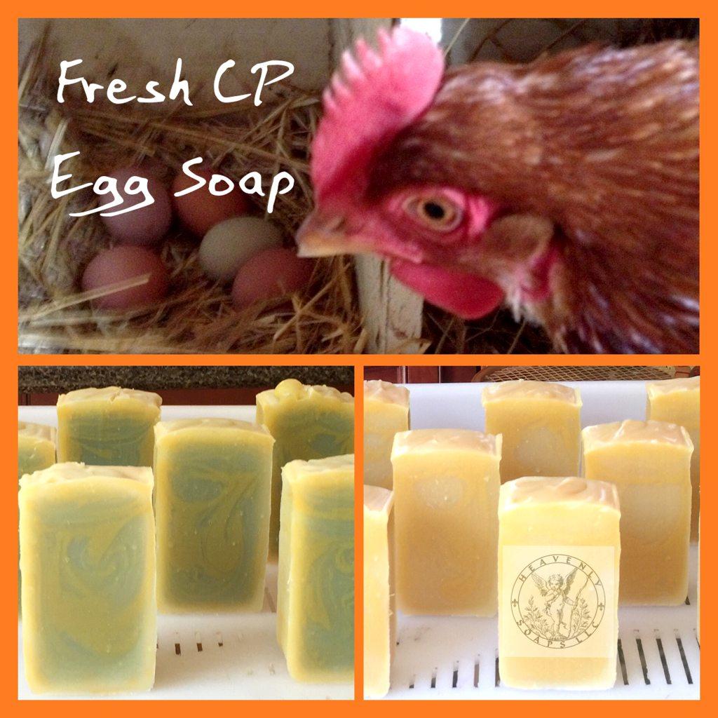 fresh eggs in cold process soap