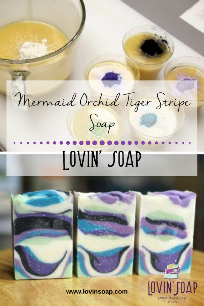 Mermaid Orchid Tiger Stripe Soap