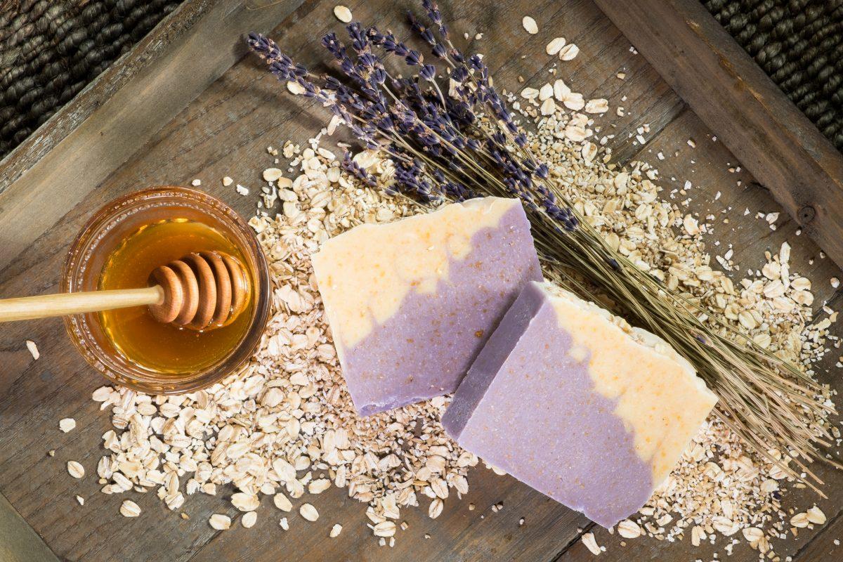 oatmeal honey lavender handmade soap