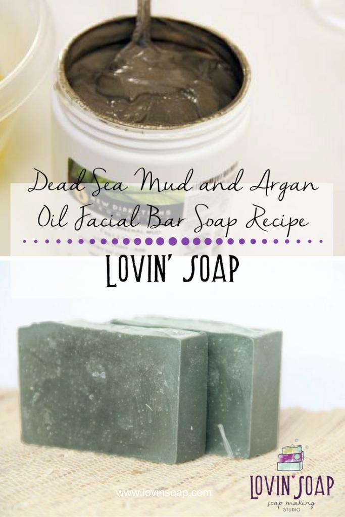dead sea mud and argan oil soap