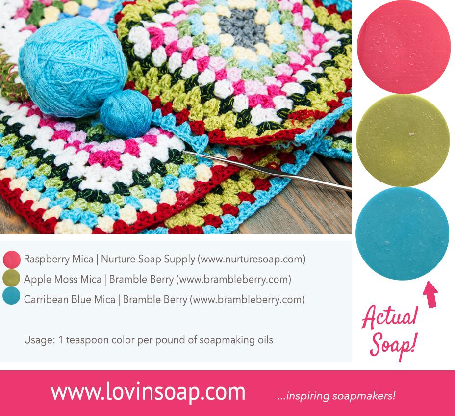 crochet soap color pallete