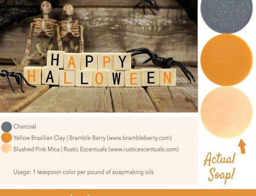 Happy Halloween Soap Color Palette