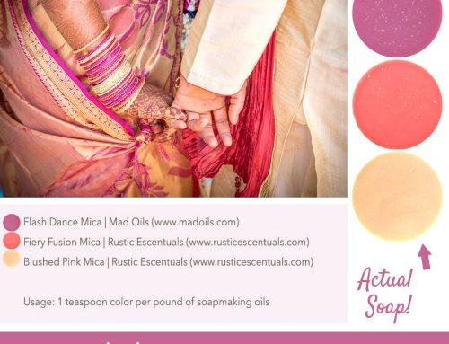 Wedding Henna Soap Color Palette