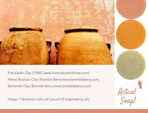 Clay Pots Natural Soap Color Palette