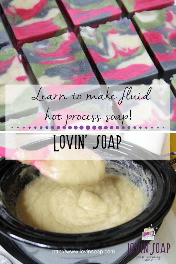 fluid hot process soap