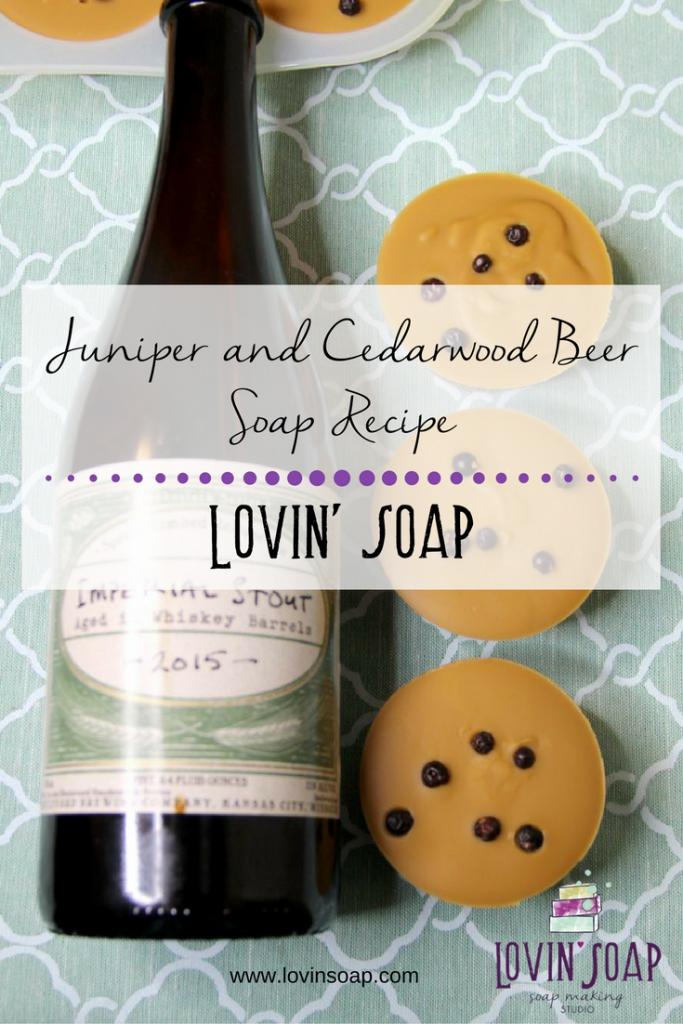 juniper and cedarwood beer soap recipe