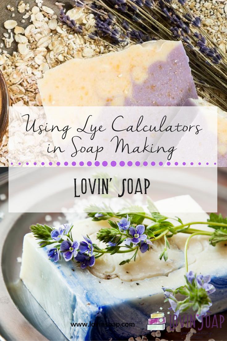 Lye calculators in soap making