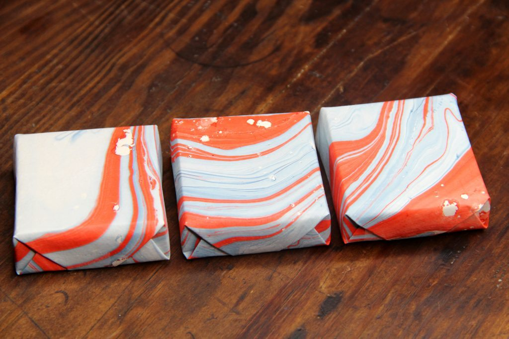 paper wrapped soap