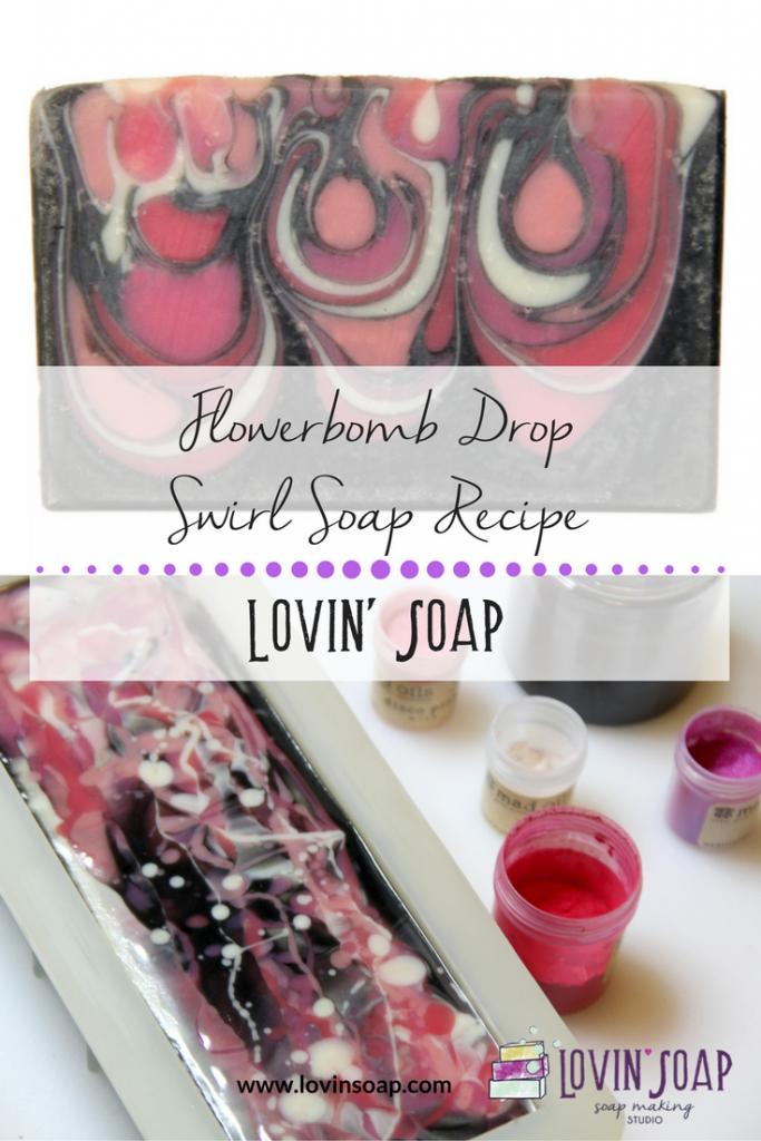 Flowerbomb Drop Swirl Soap Recipe