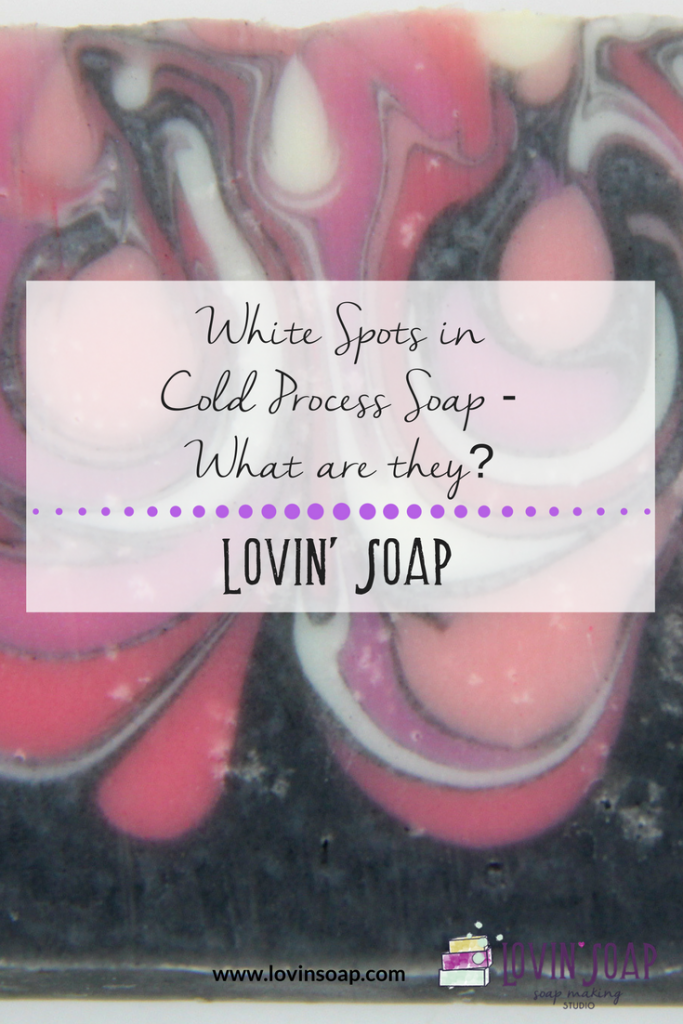white spots in soap