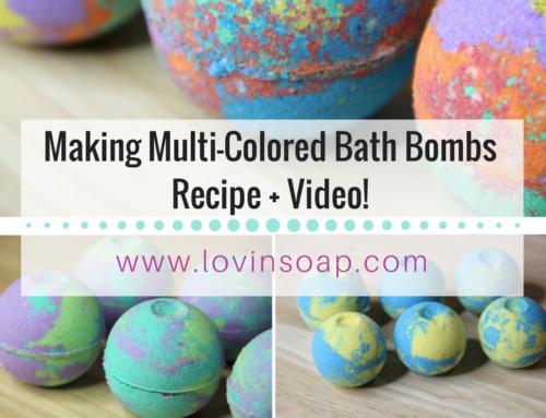 Making Multi-Colored Bath Bombs (DIY Bath Fizzies) Video